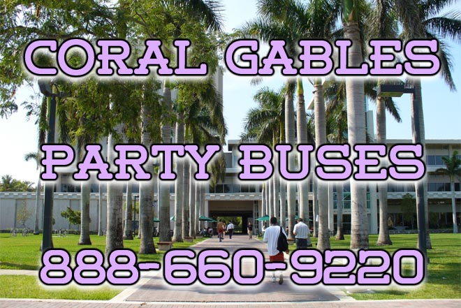 coral gables party buses