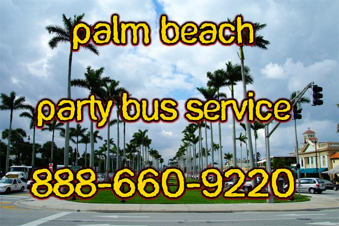 palm beach party bus service